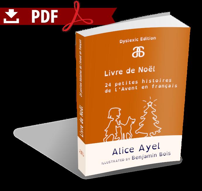 Livre de Noël – Dyslexic Edition – 24 petites histoires de l'Avent en français